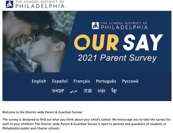 District-wide Parent & Guardian Survey- Due May 14th