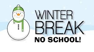 Las vacaciones de invierno son del 24 de diciembre al 4 de enero. El 21 de diciembre es un DÍA MÍNIMO para TODOS los estudiantes. Regresaremos a la escuela el lunes 7 de enero.