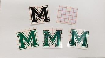 """Small """"M"""" Decals - $2 each"""
