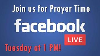 Prayer on Facebook LIVE!