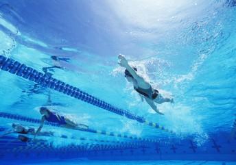 Photo of lap swimmer