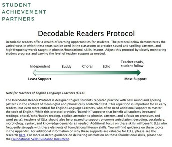 Decodable Reader Protocol