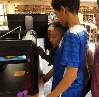 "These friends love to watch the 3D printer in action. Here, it was printing projects created by Ms. Case's students! Way to hit that SAMR ""R""!"