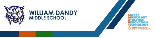 A graphic banner that shows William Dandy Middle School name and  SMART logo
