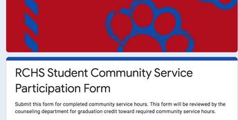 Online Community service form