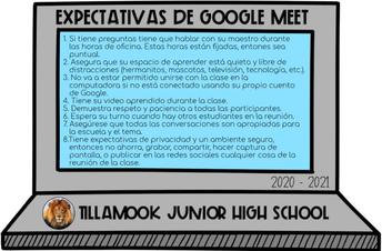Expectativas de Google Meet