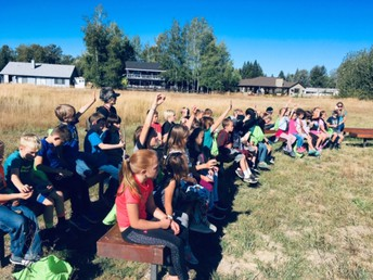 2nd graders eagerly learning at the meadow!