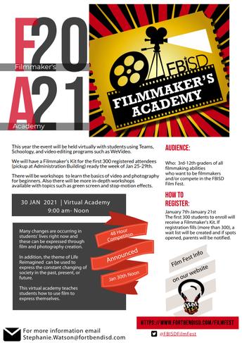 FBISD Filmmaker's Academy