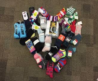 SOCKtober 2018 Total – 2,215 pairs of socks!