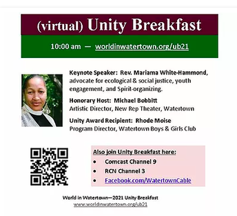 2021 Virtual Unity Breakfast - Martin Luther King, Jr. Day