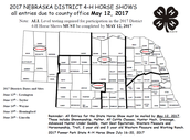 2017 Nebraska District 4-H Horse Shows