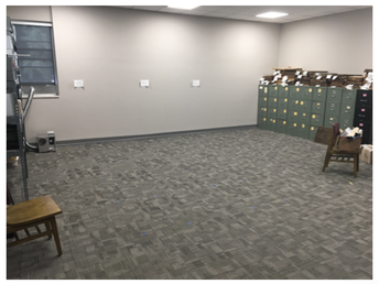 New archives location on second floor with archives storage