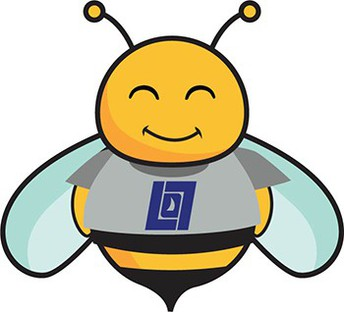 graphic of a bumble bee with LOSD logo