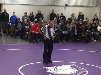 Former PHS Head Coach Denny Plyler prepares to referee!