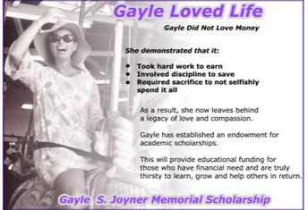 Gayle S. Joyner Scholarship