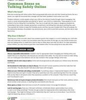 3-6 Talking Safely Online