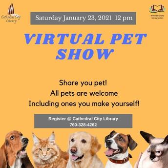 Virtual pet show flyer