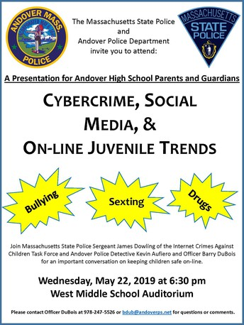 A Conversation with Massachusetts State Police and the Andover Police Department on Cybercrimes