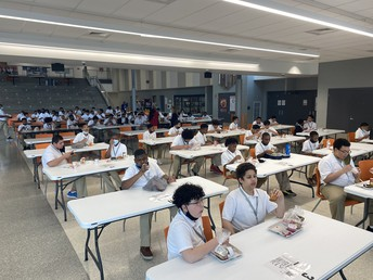 Here's a glimpse of how our Middle School Scholars interact during lunch.