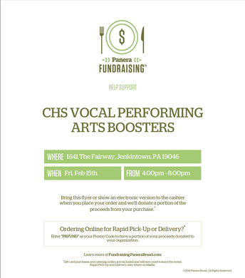 CHS Vocal Performing Arts Fundraiser