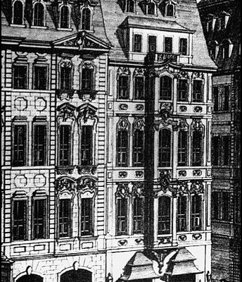 Detail of an engraving by Johann Georg Schreiber, 1732