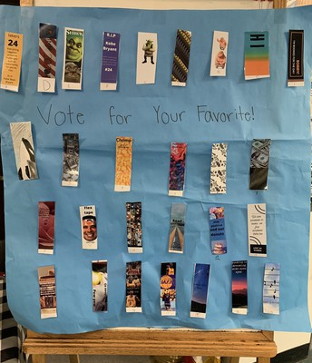 Vote for your favorite bookmark.