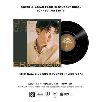 See Korean-American singer, songwriter, entertainer, and podcast host Eric Nam!