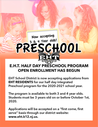 NOW ACCEPTING REGISTRATIONS FOR BOTH 3 & 4 YEAR OLDS IN THE HALF DAY PRE-SCHOOL INTEGRATED PROGRAM!