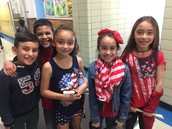 Some fabulous 3rd graders decked in Red, White, & Blue!