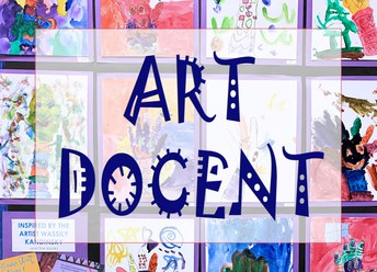 Art Docent - colorful background