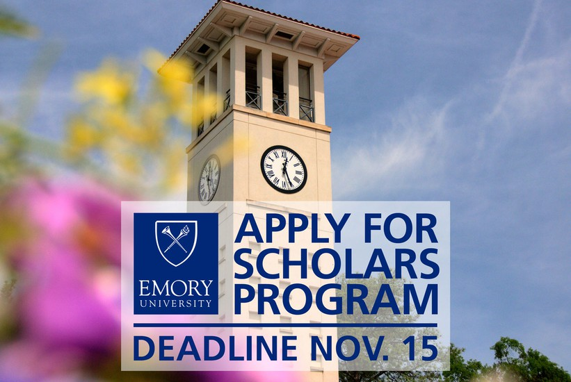 Apply for Emory Scholars by November 15