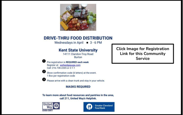Click link to access wefeedgeauga.com registration link for community drive-thru food distribution registration.