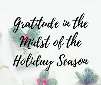 Using Gratitude to Cope with Holiday Stress