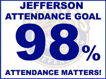 Attendance Goal is 98%