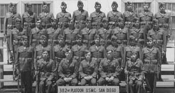 382nd Platoon U.S.M.C. San Diego, 1942