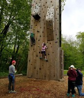 The rock wall is another great challenge