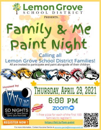 Family Paint Night Art Supply:  Share Your Art!