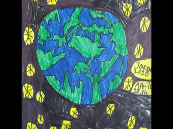 Jaxxyn's Earth Day drawing.