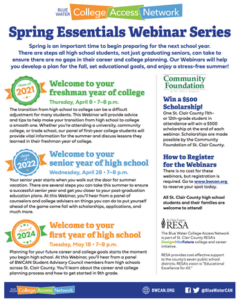 Spring 2021 Essentials Webinar Series