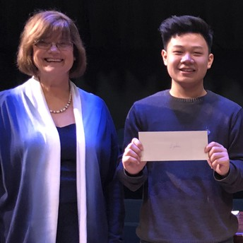 Kerr High School student Wayne Wong advanced to nationals after winning first place at the Houston Branch's National Shakespeare Competition.