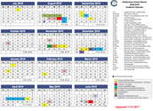 APPROVED CALENDAR FOR THE 2018-2019 YEAR!