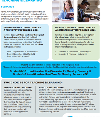 Two Choices For Teaching & Learning This Year