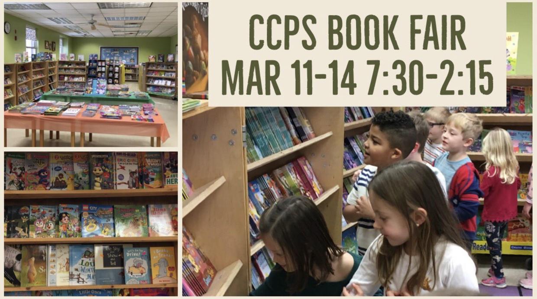 CCPS Book Fair set up