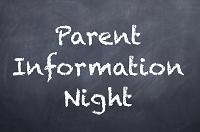 Elementary Parent Information Nights