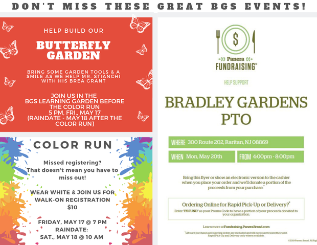 Butterfly Garden, Color Run & Panera Night