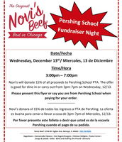 Monthly Fundraiser Have Lunch/Dinner @ Novi's Wed.