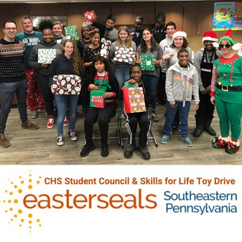CHS Student Council, Skills for Life Students Donate Toys to Easterseals