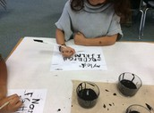 1st Graders Write with Quills