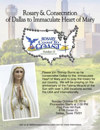 Dallas Rosary Coast To Coast - Sunday, October 13th