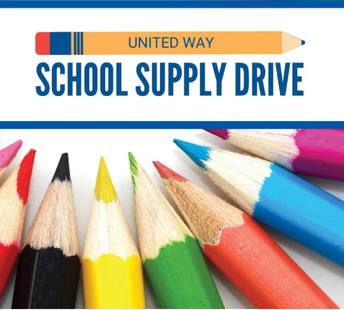 """""""united way school supply drive"""" and pencils"""